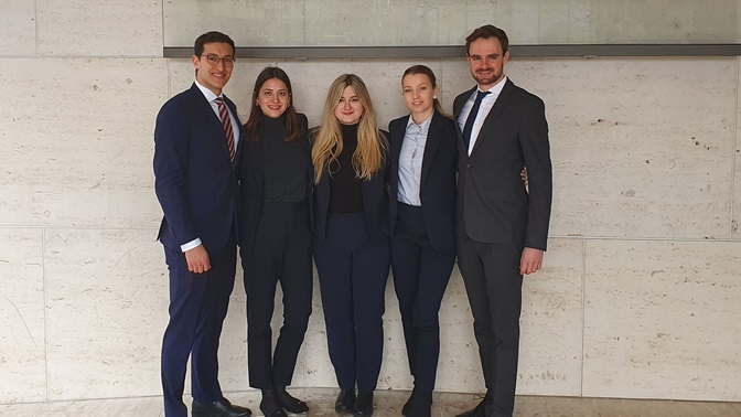 Vis Moot Court Team, April 2020